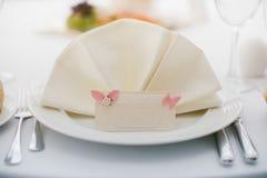 Διορισμοί γαμήλιων πινάκων στοκ εικόνες