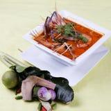 Διοσκορέα του Tom kung, ξινός και πικάντικος της σούπας γαρίδων Στοκ Φωτογραφίες