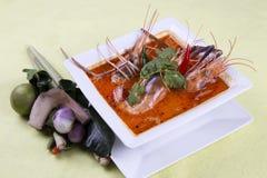 Διοσκορέα του Tom kung, ξινός και πικάντικος της σούπας γαρίδων Στοκ Εικόνες