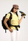 διοφθαλμικό θηλυκό καπέλο Στοκ Φωτογραφίες