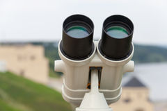 Διοφθαλμικός ενάντια στην κινηματογράφηση σε πρώτο πλάνο άποψης γεφυρών παρατήρησης, τουρισμός Στοκ εικόνες με δικαίωμα ελεύθερης χρήσης