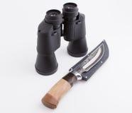 Διοφθαλμικός και μαχαίρι Στοκ Εικόνα