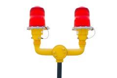 Διπλά κόκκινα φώτα προειδοποίησης Στοκ Φωτογραφίες
