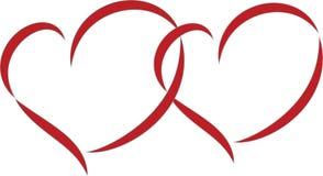 Διπλές καρδιές Στοκ φωτογραφία με δικαίωμα ελεύθερης χρήσης