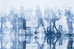 Διπλή έκθεση επιχειρηματιών Στοκ Εικόνα