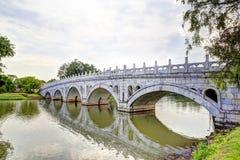 Διπλή γέφυρα ομορφιάς σε Jurong, Σιγκαπούρη Στοκ Φωτογραφία
