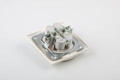 διπλή ηλεκτρική υποδοχή Στοκ Εικόνα