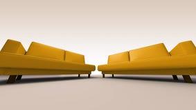 διπλοί καναπέδες Στοκ φωτογραφία με δικαίωμα ελεύθερης χρήσης