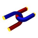 διπλοί μαγνήτες έλξης Στοκ Φωτογραφία