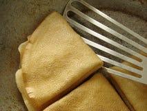 διπλωμένες τηγανίτες Στοκ Φωτογραφίες