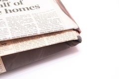 διπλωμένη εφημερίδα Στοκ φωτογραφία με δικαίωμα ελεύθερης χρήσης