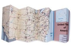 διπλωμένος χάρτης Στοκ φωτογραφία με δικαίωμα ελεύθερης χρήσης