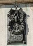 Διπλός-διευθυνμένος ανακούφιση αετός χαλκού, παλάτι Hofburg, Βιέννη στοκ φωτογραφία