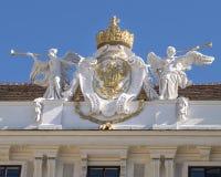 Διπλός-διευθυνμένος γλυπτό αετός, παλάτι Hofburg, Βιέννη στοκ φωτογραφία με δικαίωμα ελεύθερης χρήσης