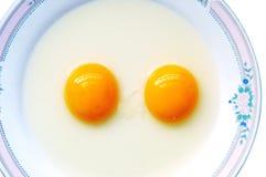 διπλός λέκιθος αυγών Στοκ Εικόνες