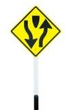 διπλός τρόπος κυκλοφορίας σημαδιών μεταφορών Στοκ Εικόνες