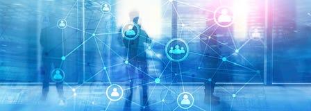 Διπλό δίκτυο structureà ¾ à ¾ ωρ. ανθρώπων έκθεσης - έννοια διαχείρισης και στρατολόγησης ανθρώπινων δυναμικών στοκ εικόνες