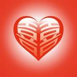 διπλό κόκκινο ευτυχίας Στοκ Εικόνα