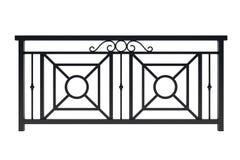 Διπλό μαύρο κιγκλίδωμα σχεδίου μετάλλων Στοκ Εικόνες