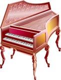 διπλό μεγάλο πιάνο της Ιταλίας Διανυσματική απεικόνιση