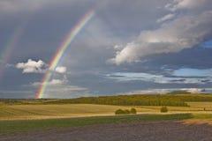 Διπλό ουράνιο τόξο του Dorset Στοκ φωτογραφία με δικαίωμα ελεύθερης χρήσης