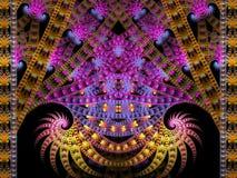 Διπλό σπειροειδές Fractal φλογών εξελίκτρων κινηματογράφων διανυσματική απεικόνιση