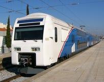 διπλό τραίνο καταστρωμάτων Στοκ εικόνες με δικαίωμα ελεύθερης χρήσης