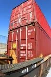 διπλό τραίνο στοιβών εμπορ& Στοκ Εικόνες