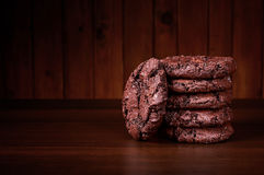 Διπλά μπισκότα σοκολάτας Στοκ φωτογραφίες με δικαίωμα ελεύθερης χρήσης