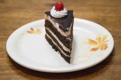Διπλή ζύμη κέικ σοκολάτας Στοκ Εικόνες