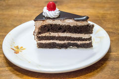 Διπλή ζύμη κέικ σοκολάτας Στοκ εικόνα με δικαίωμα ελεύθερης χρήσης