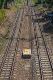 Διπλή διαδρομή σιδηροδρόμων Στοκ εικόνες με δικαίωμα ελεύθερης χρήσης