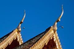 Διπλή κορυφή αετωμάτων ναών Στοκ Εικόνα