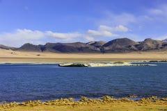 Διπλή περιοχή λιμνών, τοπίο του Θιβέτ Στοκ Εικόνες