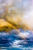 Διπλασιάστε το ουράνιο τόξο στον ουρανό Στοκ Εικόνες