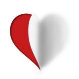 Διπλωμένη καρδιά αγάπης εγγράφου Στοκ Φωτογραφίες