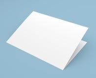 Διπλωμένο κενό ιπτάμενο, βιβλιάριο, κάρτα, επαγγελματική κάρτα ή φυλλάδιο Στοκ εικόνα με δικαίωμα ελεύθερης χρήσης