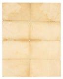 Διπλωμένο παλαιό έγγραφο στοκ εικόνες με δικαίωμα ελεύθερης χρήσης