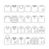 Διπλωμένο σύνολο πουκάμισων Στοκ φωτογραφίες με δικαίωμα ελεύθερης χρήσης