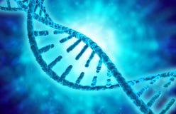 Διπλός έλικας DNA στο μπλε υπόβαθρο ελεύθερη απεικόνιση δικαιώματος