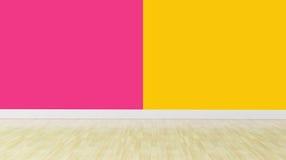 Διπλός τοίχος χρώματος χωρίς τα έπιπλα Στοκ Εικόνες