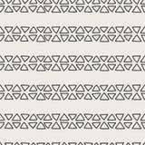 Διπλό άνευ ραφής σχέδιο γραμμών τριγώνων Στοκ Εικόνες