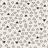 Διπλό άνευ ραφής σχέδιο τριγώνων Στοκ Εικόνες