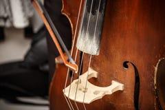 Διπλό βαθύ, ξύλινο μουσικό όργανο Στοκ Εικόνες