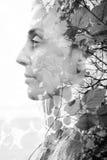 Διπλό πορτρέτο έκθεσης Στοκ εικόνες με δικαίωμα ελεύθερης χρήσης