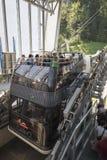 Διπλό τελεφερίκ γεφυρών Cabrio, Stanserhorn Στοκ εικόνα με δικαίωμα ελεύθερης χρήσης