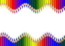 Διπλό crayonwave απεικόνιση αποθεμάτων