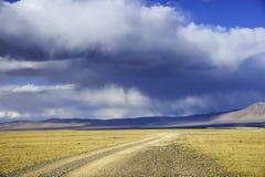 Διπλό Puruogangri θέρετρο λιμνών παγετώνων του Θιβέτ Στοκ Εικόνες