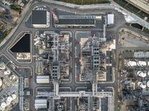 Διυλιστήριο πετρελαίου, λιμένας πετρελαίου, σκάφος πετρελαιοφόρων Στοκ Φωτογραφία