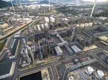 Διυλιστήριο πετρελαίου, λιμένας πετρελαίου, σκάφος πετρελαιοφόρων Στοκ Εικόνες